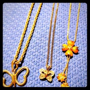 Set of 3 Fun Goldtone Necklaces